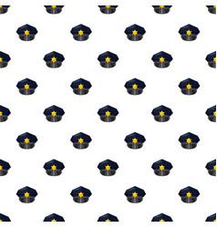 Police cap pattern vector