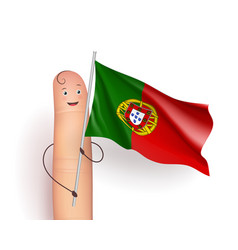 Portugal flag waving vector