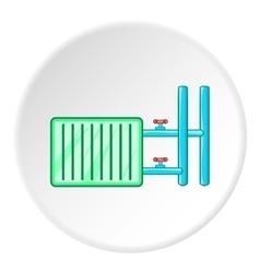 Radiator icon cartoon style vector