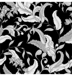 Vintage hand drawn baroque seamless pattern vector image