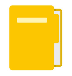 Yellow file folder icon isolated vector