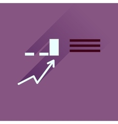 Flat icon with long shadow infographics business vector