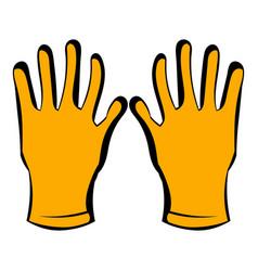 Gloves of beekeeper icon icon cartoon vector