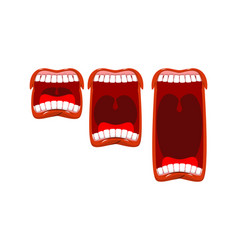 volume cry yell level stage scream open mouth vector image
