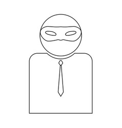 The man incognito in a mask the black color icon vector