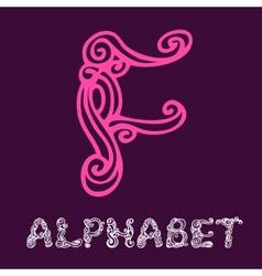 Doodle hand drawn sketch alphabet Letter F vector image