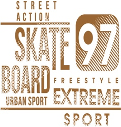 Skateboard text design vector