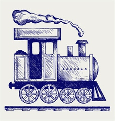 Wild west steam locomotive vector
