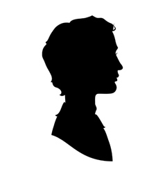 Profile silhouette of a handsome man vector