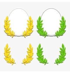 Laurel wreath and ellipse vector