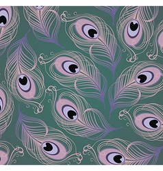 Peacock feather pattern vector
