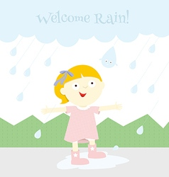 Welcome rain vector image