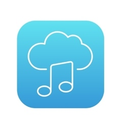 Cloud music line icon vector