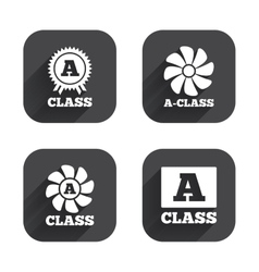 Premium level award icons a-class ventilation vector