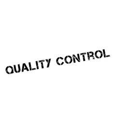 Quality control black rubber stamp on white vector
