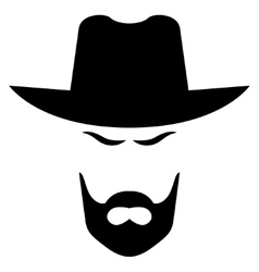 American cowboy head vector image vector image