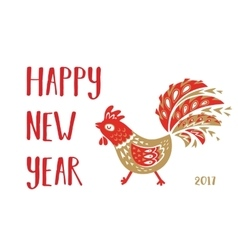 Chinese new year of the rooster vector