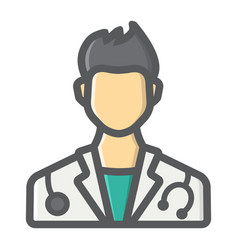 doctor filled outline icon medicine healthcare vector image vector image