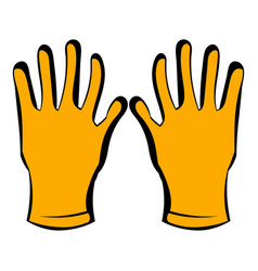 Gloves of beekeeper icon icon cartoon vector