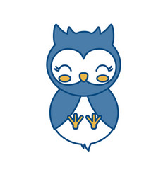 Kawaii owl icon vector