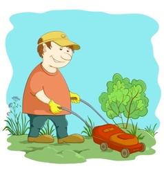 lawn mower man vector image vector image