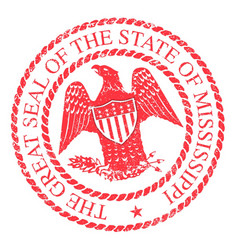 Mississippi state rubber stamp vector