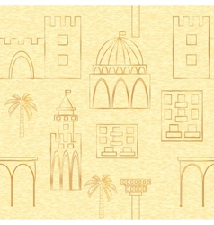 Seamless backgroung with buildings vector