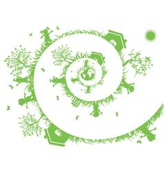 Spiral green vector