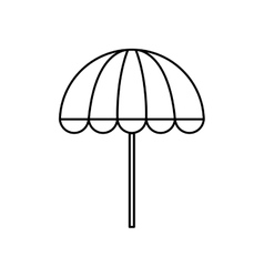 umbrella silhouette weather icon graphic vector image