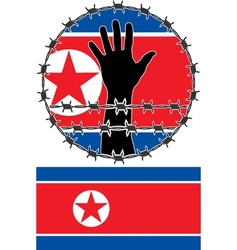 Violation of human rights in north korea vector