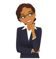 Woman thinking vector image