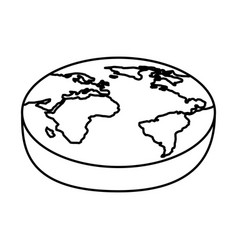 World planet isometric icon vector