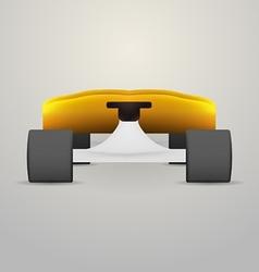 Yellow longboard vector