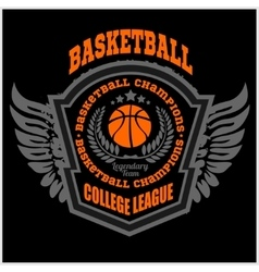 Basketball championship logo set and design vector