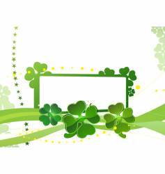 blank with green four-leafed clover vector image