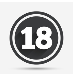 18 years old sign adults content vector