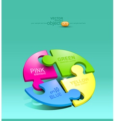 Pelement for design colored puzzles vector