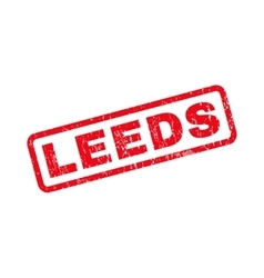 Leeds Rubber Stamp vector image