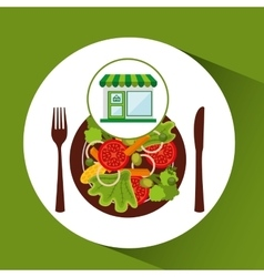 Store fresh vegetables healthy food vector