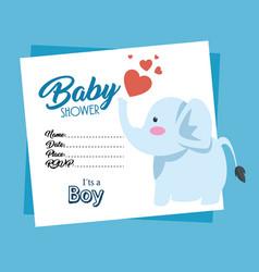 Baby shower invitation card vector