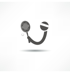 tennis player icon vector image