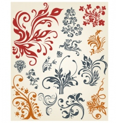 vintage ornament collection vector image