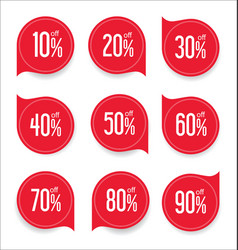 Modern offer sale red tag isolated vector