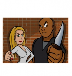 robbers stick up vector image