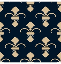 Classical french fleur-de-lis pattern vector