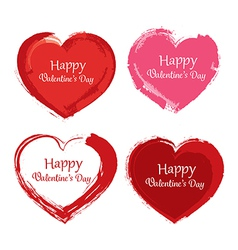 Valentine day symbol paint brush vector