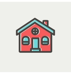 Church building thin line icon vector
