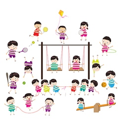 Sport for kids healthy lifestyle vector