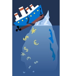 Financial titanic vector