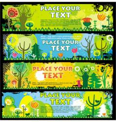 Spring banners with copy-space vector